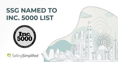 Selling Simplified Group, Inc. (SSG) ocupó el puesto n.°4.187 en la lista Inc.5000 en reconocimiento a las empresas privadas de más rápido crecimiento en los Estados Unidos.